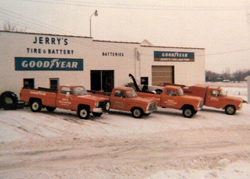 Jerry's Tire roadside service trucks